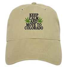 Keep Calm And Move To Colorado Baseball Cap