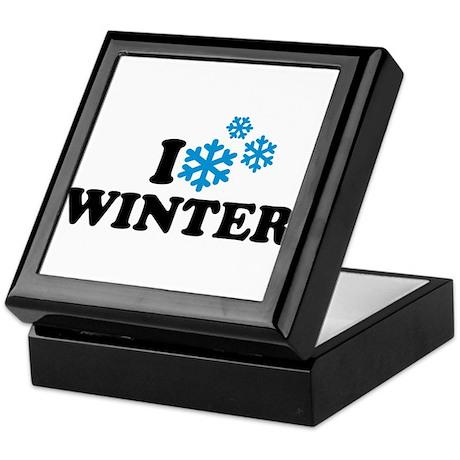 I love winter Keepsake Box