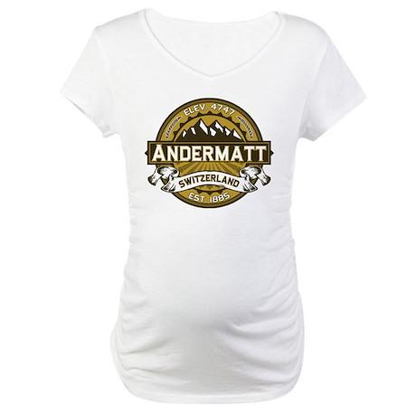 Andermatt Tan Maternity T-Shirt