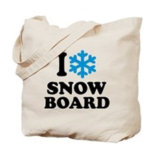 I love Snowboard Tote Bag