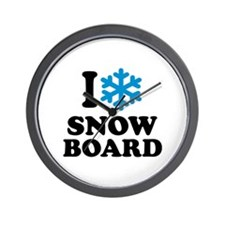I love Snowboard Wall Clock