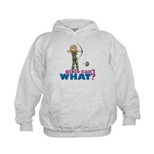 Camouflage Archery Girl - Blonde Hoodie