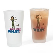 Camouflage Archery Girl - Light Drinking Glass