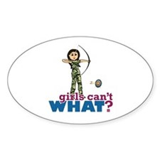 Camouflage Archery Girl - Light Decal
