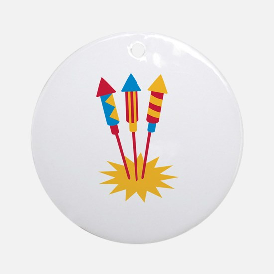 Fireworks rocket Ornament (Round)