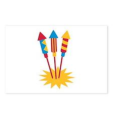 Fireworks rocket Postcards (Package of 8)