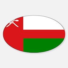 Oman - National Flag - 1970-1995 Sticker (Oval)