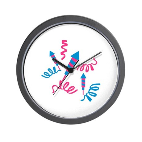 Fireworks party Wall Clock