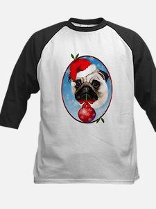 A Very Merry Christmas Pug Oval Tee