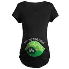 December Due Date Belly Print Turtle T-Shirt