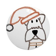 xmas dog.jpg Ornament (Round)