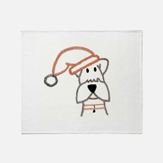 xmas dog.jpg Throw Blanket
