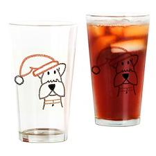 xmas dog.jpg Drinking Glass