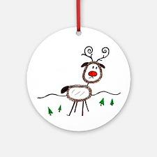 reindeer.jpg Ornament (Round)