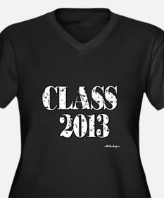 CLASS2013.png Women's Plus Size V-Neck Dark T-Shir