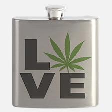 I Love Marijuana Flask