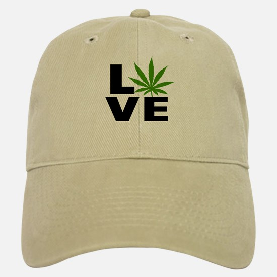 I Love Marijuana Baseball Baseball Cap