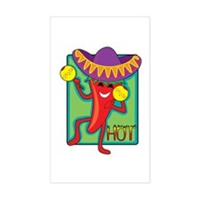 Mexican Chili Rectangle Decal
