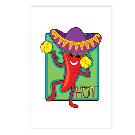 Mexican Chili Postcards (Package of 8)