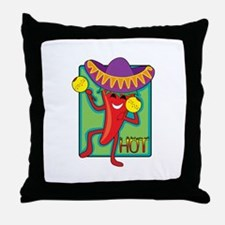 Mexican Chili Throw Pillow
