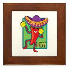 Mexican Chili Framed Tile