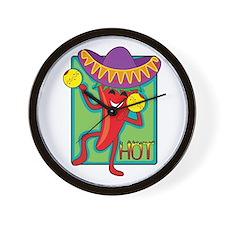 Mexican Chili Wall Clock