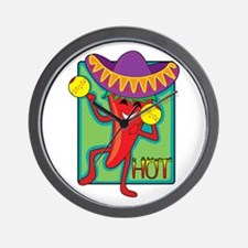 Mexican Chili Wall Clock