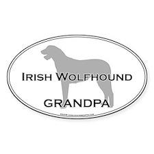 Irish Wolfhound GRANDPA Oval Decal