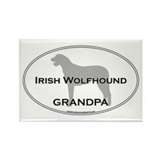 Irish Wolfhound GRANDPA Rectangle Magnet