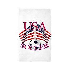 usa soccer 3'x5' Area Rug
