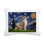 5.5x7.5-Starry-Akita3.png Rectangular Canvas Pillo