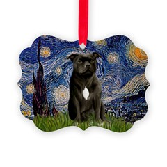 STARRY-AmericanStaffordshire Ornament