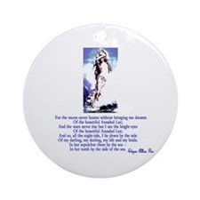 Edgar Allan Poe's Annabel Lee Ornament (Round)