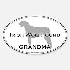 Irish Wolfhound GRANDMA Oval Decal