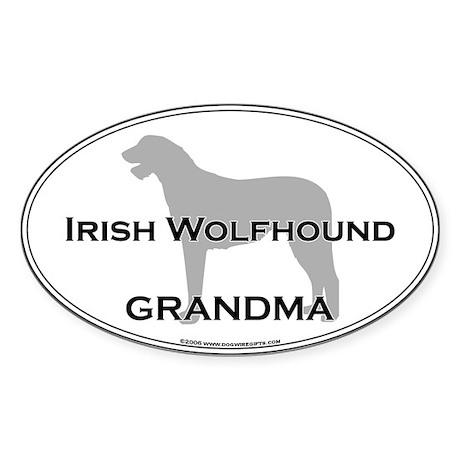 Irish Wolfhound GRANDMA Oval Sticker