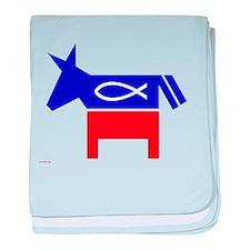 Jesus Fish Democrat baby blanket