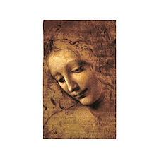 Leonardo Da Vinci La Scapigliata 3'x5' Area Rug