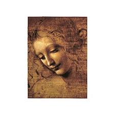 Leonardo Da Vinci La Scapigliata 5'x7'Area Rug