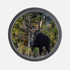 Moose from ditch Wall Clock