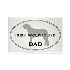Irish Wolfhound DAD Rectangle Magnet