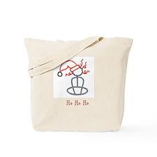 Yoga Christmas Girl Tote Bag