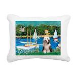Beardie 1 - Sailboats.png Rectangular Canvas Pillo