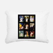 Bichon Masterpieces (A) Rectangular Canvas Pillow