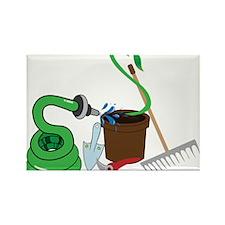 Garden Tools Rectangle Magnet