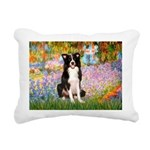 TILE-Garden-M-BordC1.png Rectangular Canvas Pillow