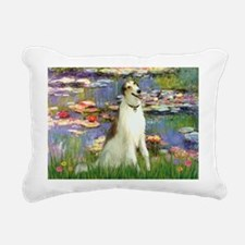 card-Lilies2-Borzoi1b.png Rectangular Canvas Pillo
