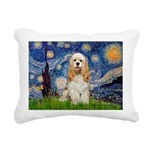 Cocker (Buff) - Starry Night.png Rectangular Canva