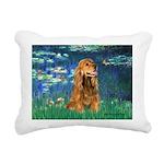 MP-LILIES5-Cocker7.png Rectangular Canvas Pillow