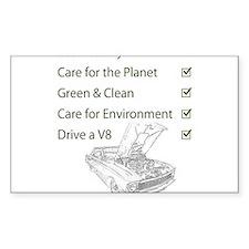 Eco-Friendly V8 Decal