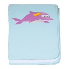 Purple Dolphin for Kids Shirt baby blanket